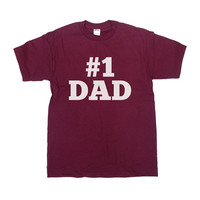 Number 1 Dad Shirt #1 Dad TShirt Father's Day Gift T-Shirt For Dad Father Daddy Papa Best Dad Awesome Dad Greatest Dad Tee - SA120