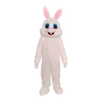 Deluxe Plush White Bunny Costume for Adults White Bunny Rabbit Mascot Suit