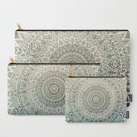 AUTUMN LEAVES MANDALA Carry-All Pouch by Nika