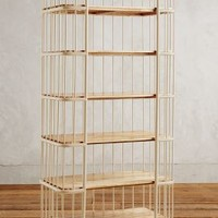 Visby Six-Tier Bookcase by Anthropologie in Cream Size: Six-shelf Bookcase Furniture