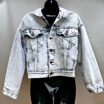 1980's Denim Jacket by Levi Strauss - 80's Acid Wash - Fully Lined Jean Jacket - True Vintage!
