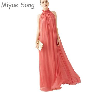 2017 New summer Maternity Dresses long Chiffon Bohemian Dress Clothes For Pregnant Women Maternidade Pregnancy Clothing
