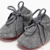 Tapestry-Red Sole Baby Moccasins