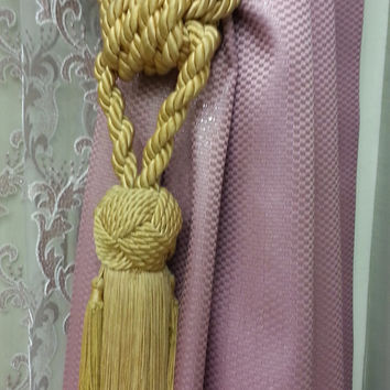 Curtain Accessories - Macrame Curtain Accessories - Yellow Accessories - F710