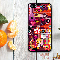 Whimsical, Bold Musical Inspired Pattern. iPhone 4 // 4s // 5 // 5s // 5c