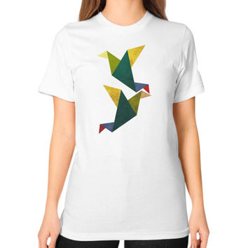 Cute Origami Unisex T-Shirt (on woman)