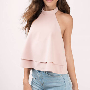 Swept Away Choker Halter Top