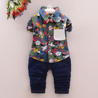 Fashion children clothing set boys Print bow Long sleeve shirt+ jeans pants 2pcs gentleman suit baby outfits korean kids clothes-in Clothing Sets from Mother & Kids on Aliexpress.com | Alibaba Group