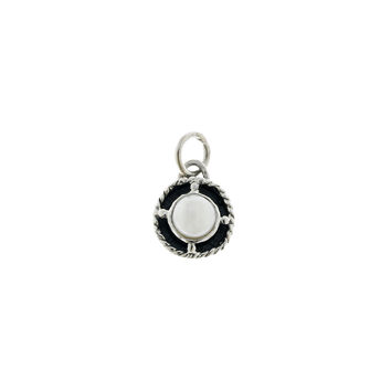 Kamon Sterling Silver And White Pearl June Charm