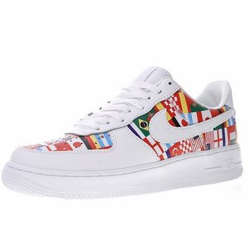 "2018 FIFA The World Cup! Nike AIR FORCE 1 Low ""The World Cup"" Sneaker AO5119-200"