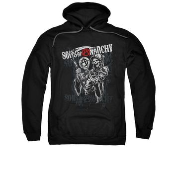 Sons Of Anarchy Grim Reaper Logo Licensed Adult Pullover Hoodie