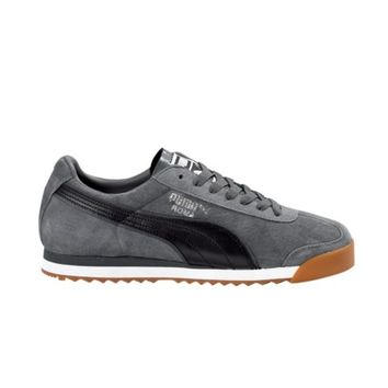 Mens Puma Roma Suede Athletic Shoe, Charcoal Black Gum, at Journeys Shoes