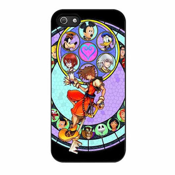 kingdom hearts disney stained glass cases for iphone se 5 5s 5c 4 4s 6 6s plus