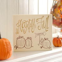 Happy Fall Wooden Plaque