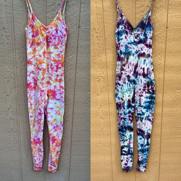 Tie Dye Body Suit Unitard Onesuit Yoga Dance Hippie Costume