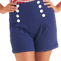 Bettie Page Upon the High Seas Shorts | Mod Retro Vintage Shorts | ModCloth.com