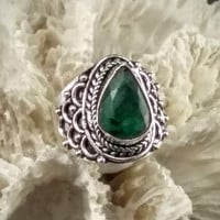 Emerald Ring ~ Size  9