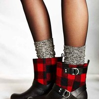 Woolrich Balt Buffalo Plaid Moto Boot- Red
