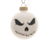 Holiday Ornaments Halloween Scary Faces Glass Ornament