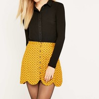 Urban Outfitters Scallop-Edge A-Line Skirt - Urban Outfitters