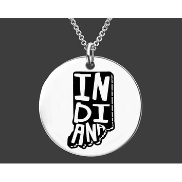 Indiana State Necklace | Personalized State Necklace