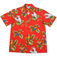 cocotoo red hawaiian cotton shirt