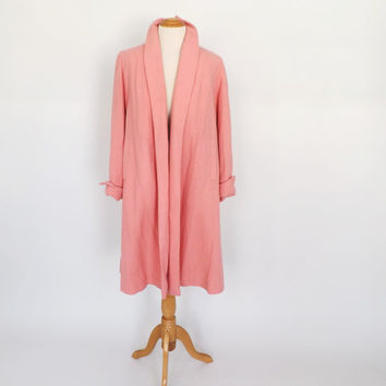 Vintage 1940s Swing Coat Pale Pink Walking Coat Hollywood Glamour Mad Men Medium Swing Jacket 1950s Mod Fall Spring Pea Coat Rare 40s Coat