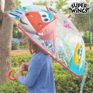 VONES0 Super Wings Clear Bubble Umbrella