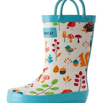 Oakiwear Forest Animals Rain Boot - Kids