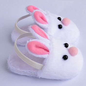 New Arrival Cute Withe Felt Slippers For American Girls 18inch Gril Dolls Accessories