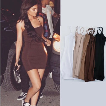 kylie suspenders skirt