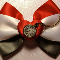 White Rabbit Alice in Wonderland Inspired Bow