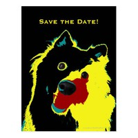 Save the Date 45th Birthday Happy Dog Announcement Postcard