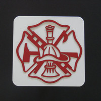 Fireman Maltese Cross 16 Gauge Metal Trailer Hitch Cover