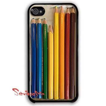 iphone 4 case, iPhone 4s Case,  iphone case, Color Pencils Set iPhone Hard Case