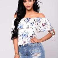 Flower Bomb Top - Ivory