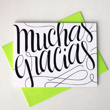 Card - Muchas gracias - Thank you in Spanish