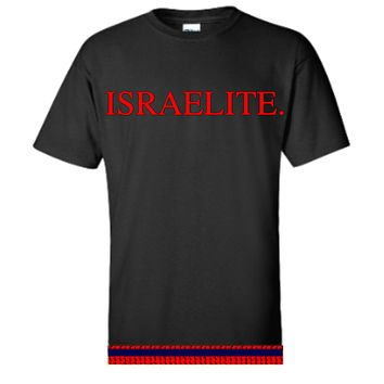 Israelite Period In Red T-shirt With Fringes