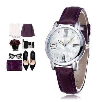 Women Watches Quartz Watch Ladies Dress Wrist Watch Leather Fashion Quartz Brand Casual Wristwatch Relogio Feminino Reloj Mujer