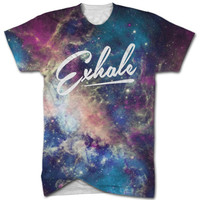 Exhale universe all over print t shirt