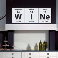 Periodic Table Wall Decal Vinyl Sticker Wine Elements Lettering Art Home Decor for Kitchen M013