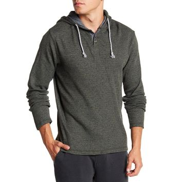 Kyle Thermal Henley Pullover