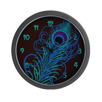 peacock-feather_cl.png Wall Clock