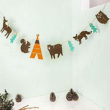 Woodland Animals Fabric Garland