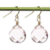 Blush Pink Teardrop Earrings