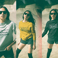 Written and directed by Quentin Tarantino Sweatshirt, Tarantino Sweater, Quentin Tarantino Pullover, Yellow Top, Unisex Crewneck Sweatshirt
