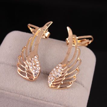 Angel pure color wing Accessory Shiny Ear clip [11192813716]