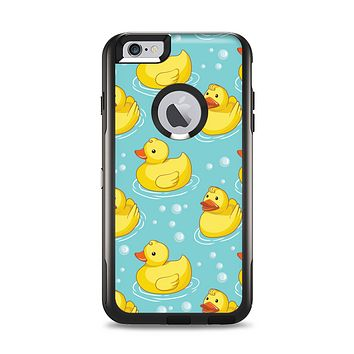 The Cute Rubber Duckees Apple iPhone 6 Plus Otterbox Commuter Case Skin Set