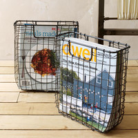 Wire Weave Magazine Basket