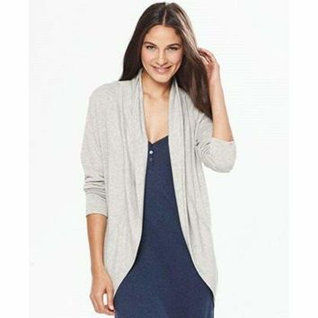 A by Alfani Women's Terry Cozy Wrap 213837 Stone Grey XS/S